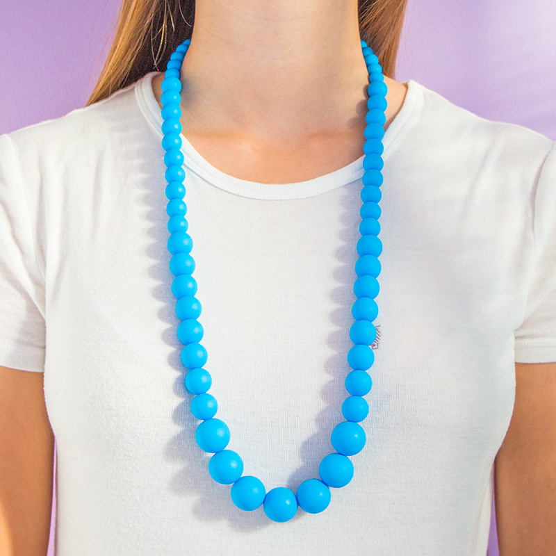 Teething Necklaces Pearls of the Sea - Blue