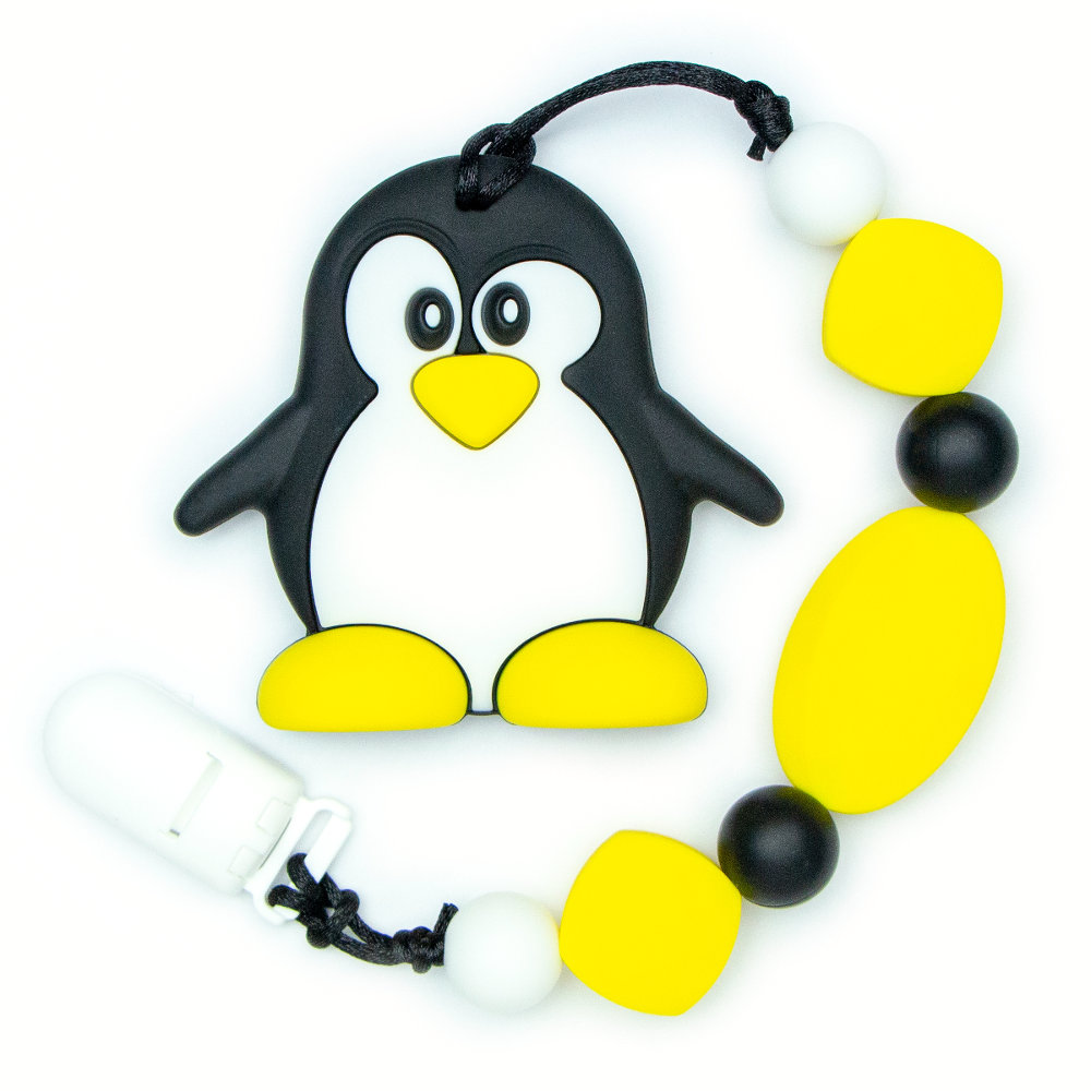 Teething Toys Penguin - Yellow