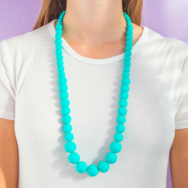 Teething Necklaces Pearls of the Sea - Turquoise