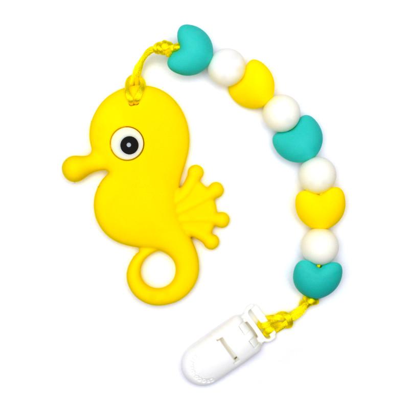 Teething Toys Seahorse - Yellow