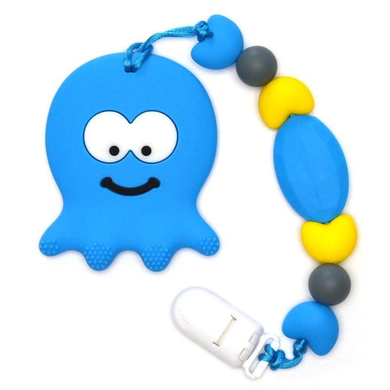 Jouets de dentition Pieuvre - Bleu