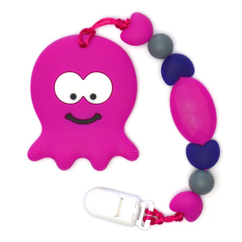 Teething Toys Octopus - Magenta