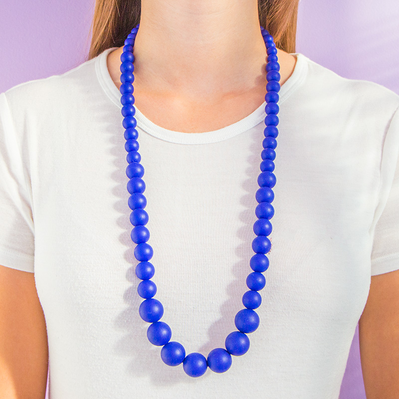 Teething Necklaces Pearls of the Sea - Navy