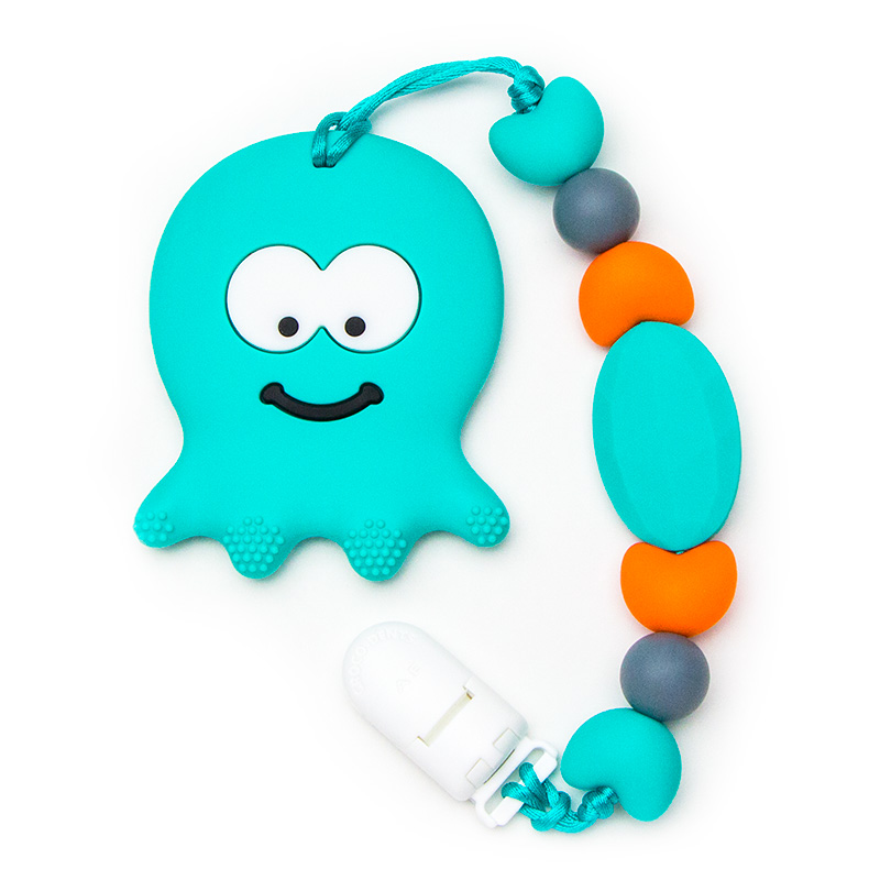 Teething Toys Octopus - Turquoise