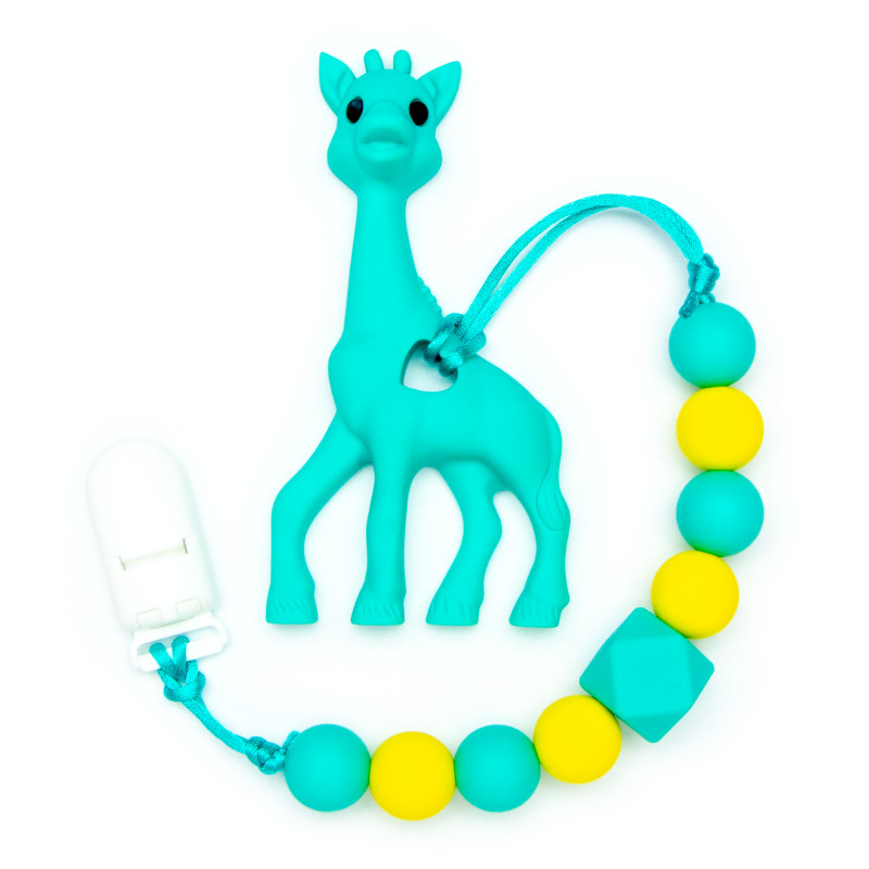 Teething Toys Giraffe - Turquoise