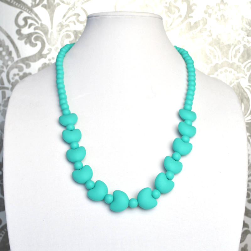 Teething Necklaces Lionheart - Turquoise