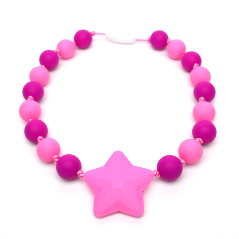 Teething Necklaces Poppy (Kid) - Pink