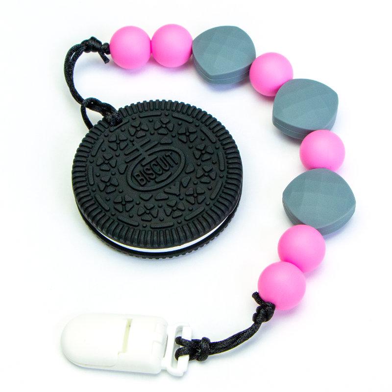 Teething Toys Biscuit - Pink