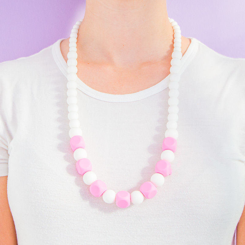 Teething Necklaces Marshmallow - Pink