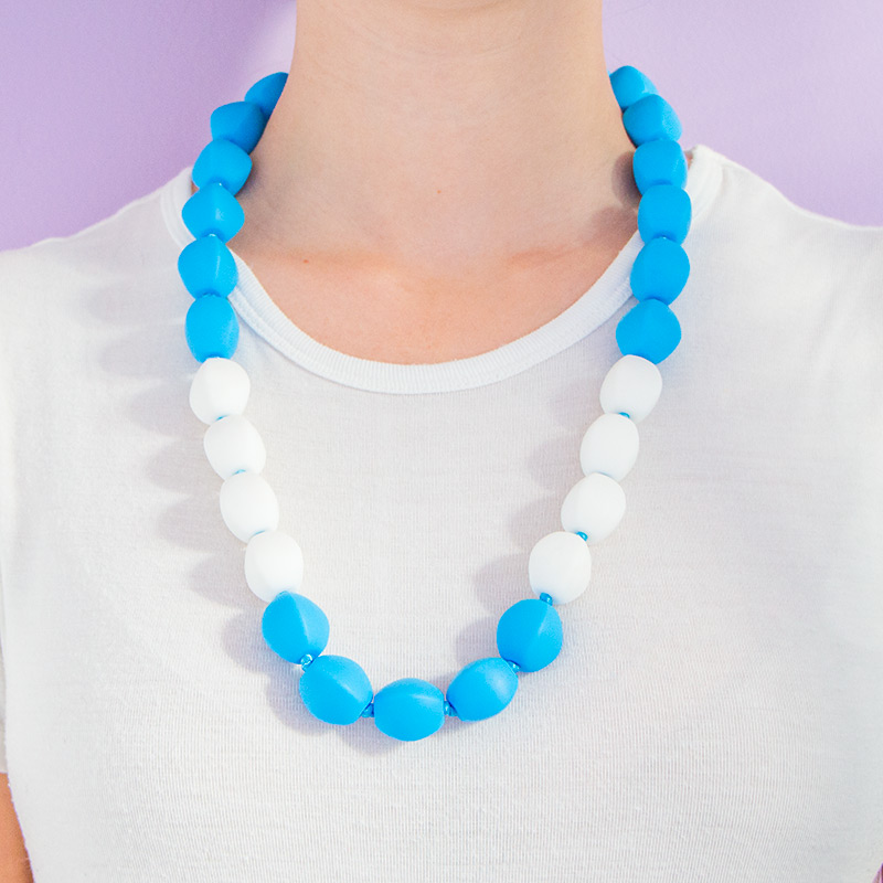 Teething Necklaces Butterscotch - Blue