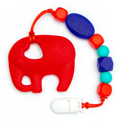 Teething Toys Elephant - Red