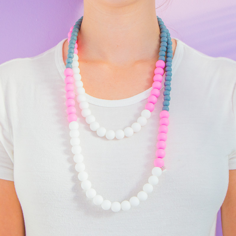 Teething Necklaces Little Princess - White