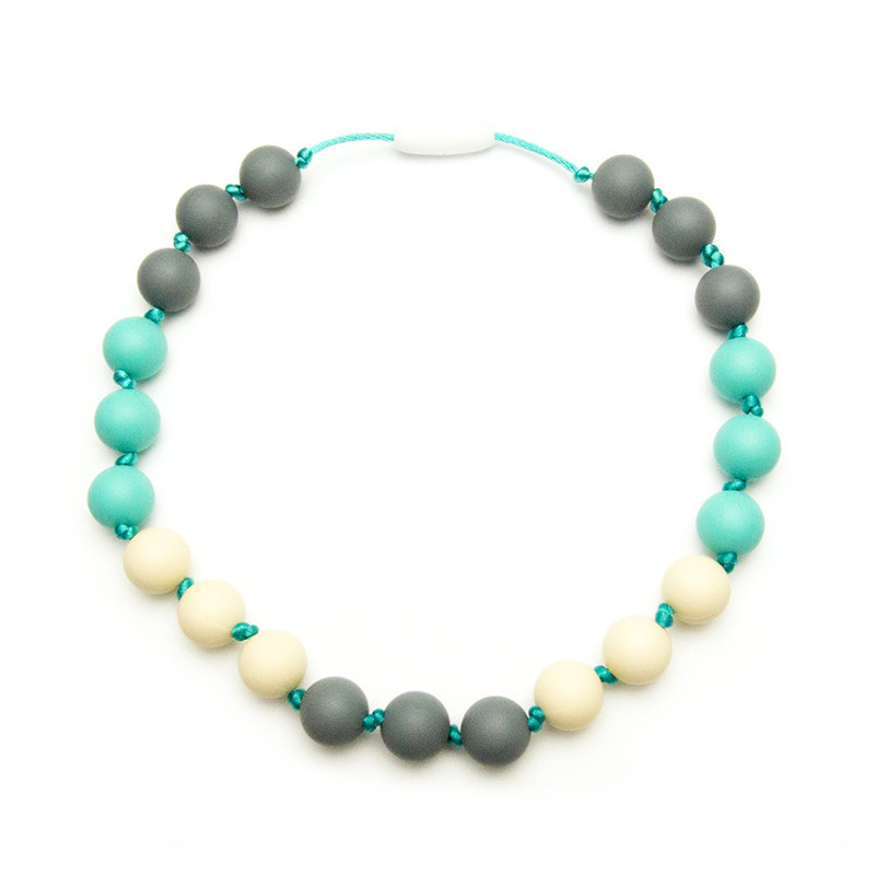 Teething Necklaces Nasturtium (Kid) - Turquoise