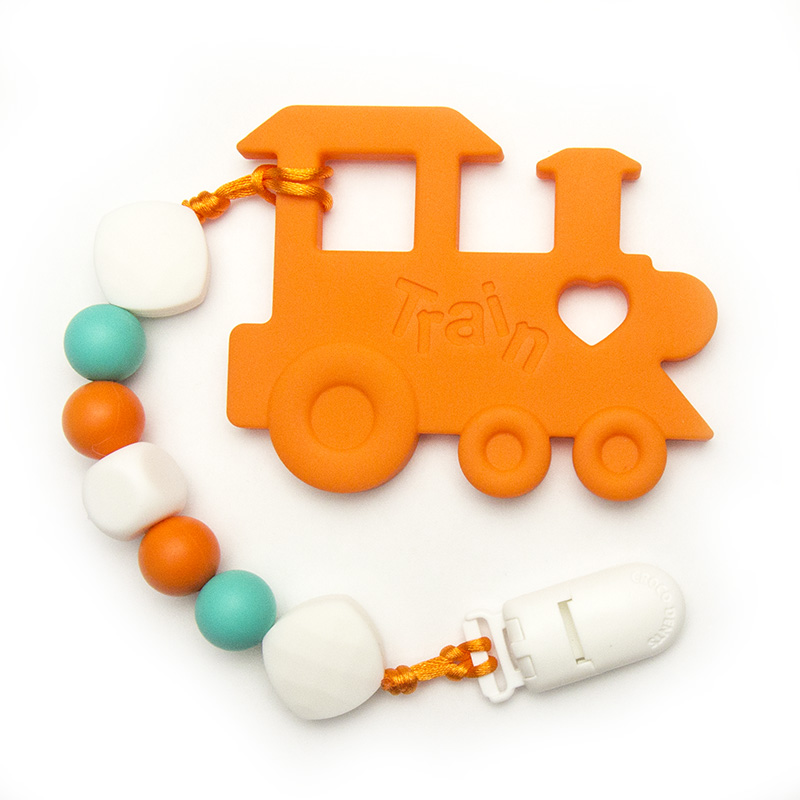 Teething Toys Train - Orange
