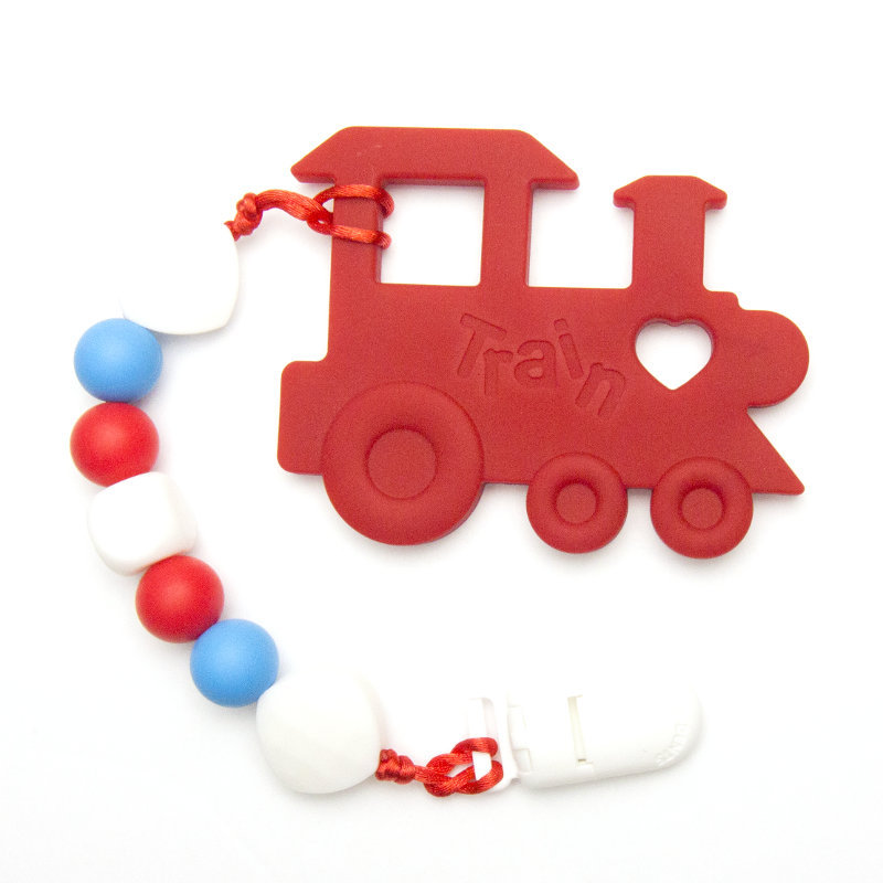 Teething Toys Train - Red