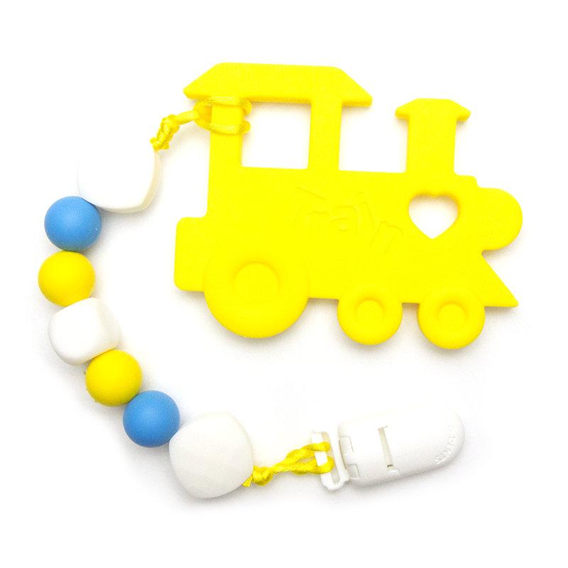 Teething Toys Train - Yellow