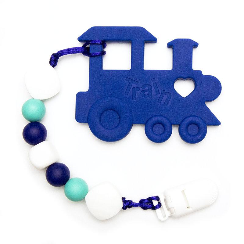 Teething Toys Train - Blue