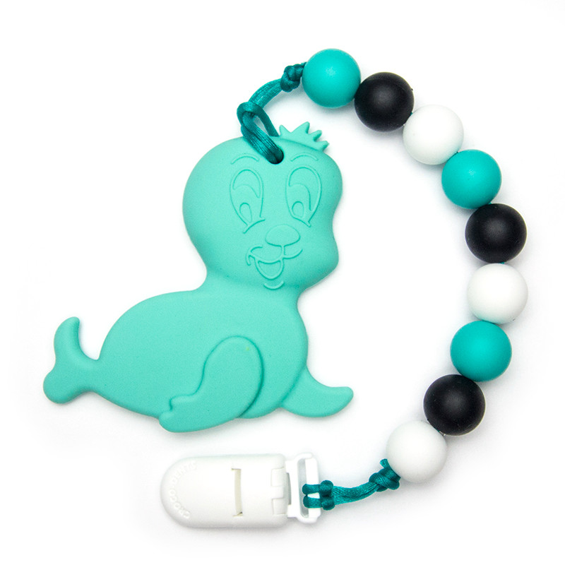 Teething Toys Seal - Turquoise