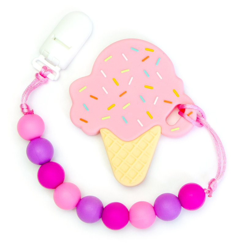 Teething Toys Ice Cream - Strawberry