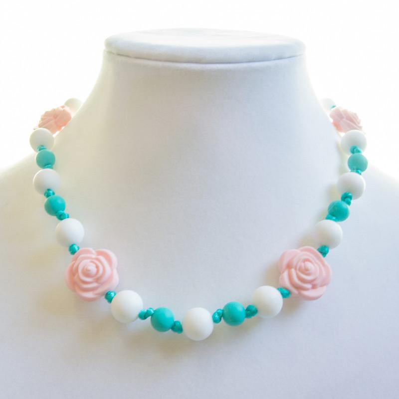 Teething Necklaces Rose (Kid) - Pink