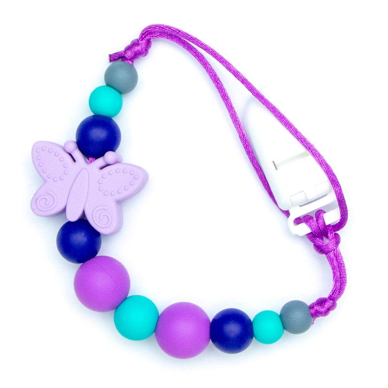 Pacifier Clips Butterfly - Purple