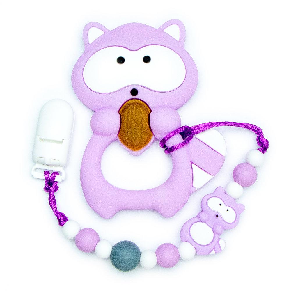 Teething Toys Raccoon - Purple
