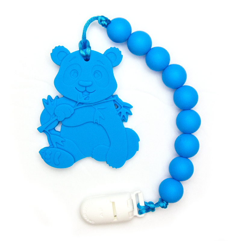Teething Toys Panda - Blue