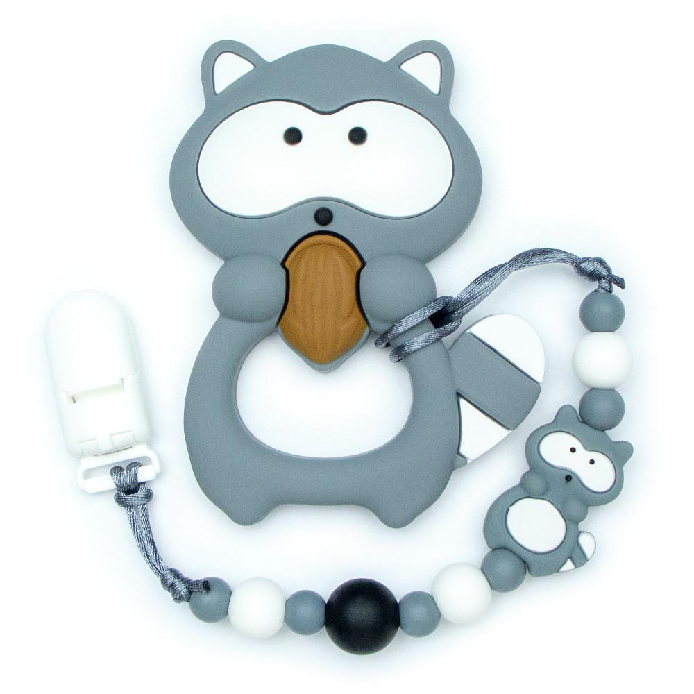 Teething Toys Raccoon - Gray | Croco-Dents com