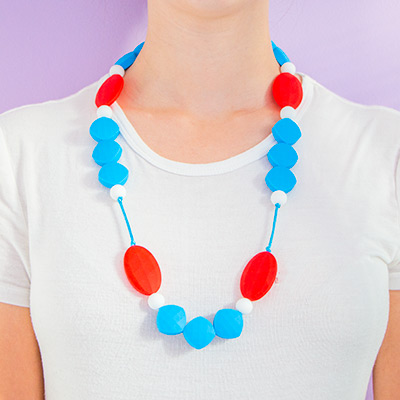 Teething Necklaces Honeymoon - Blue