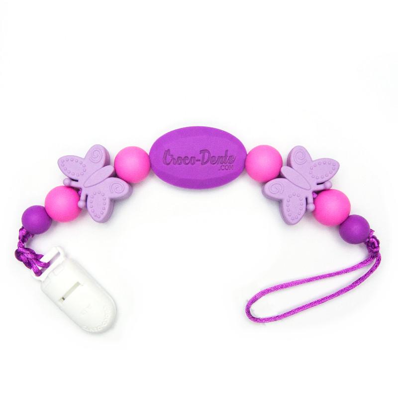 Pacifier Clips Monarch - Purple