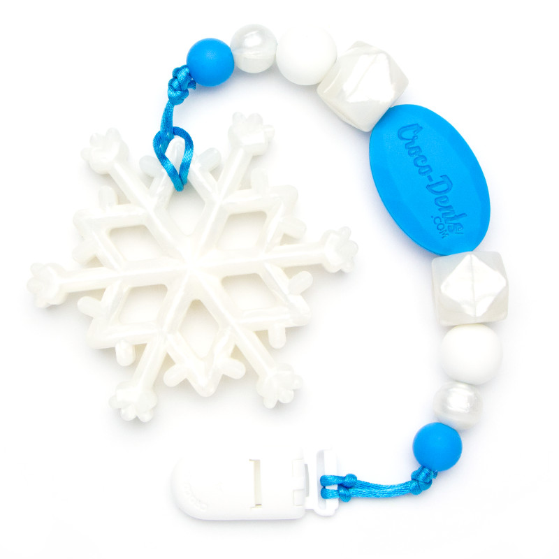 Teething Toys Snowflake - Blue