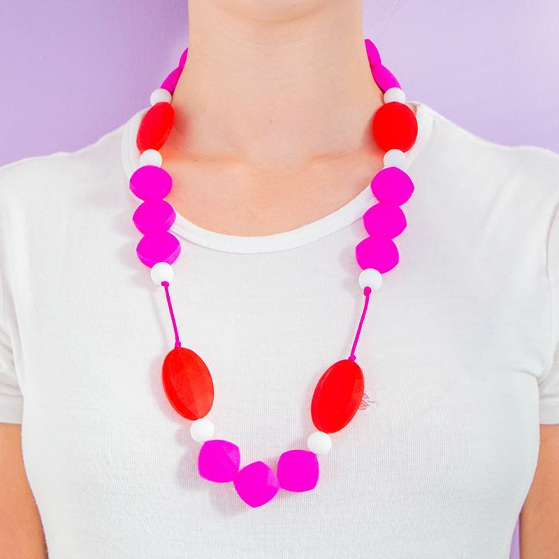 Teething Necklaces Honeymoon - Magenta