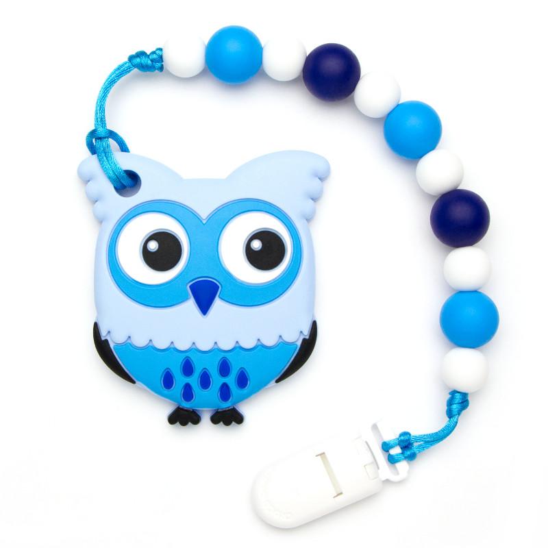 Teething Toys Owl - Navy