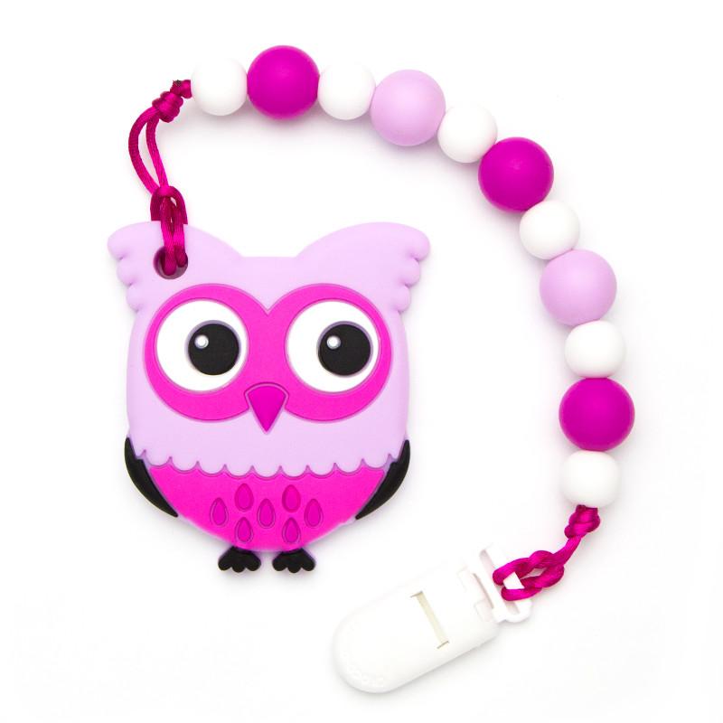 Teething Toys Owl - Magenta