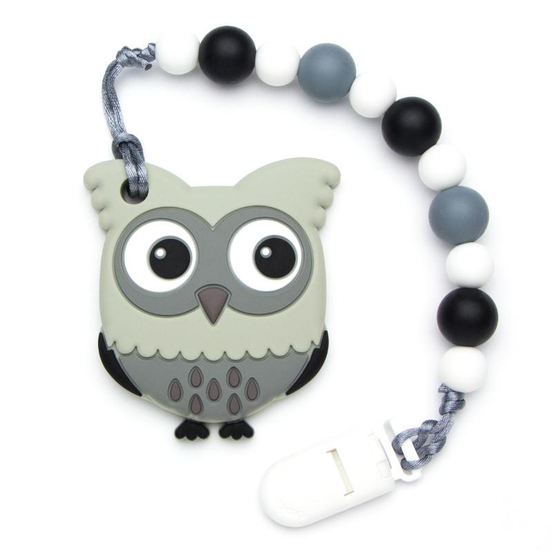 Teething Toys Owl - Gray