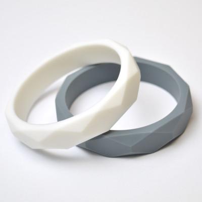 Duo Éternité - Blanc et Gris