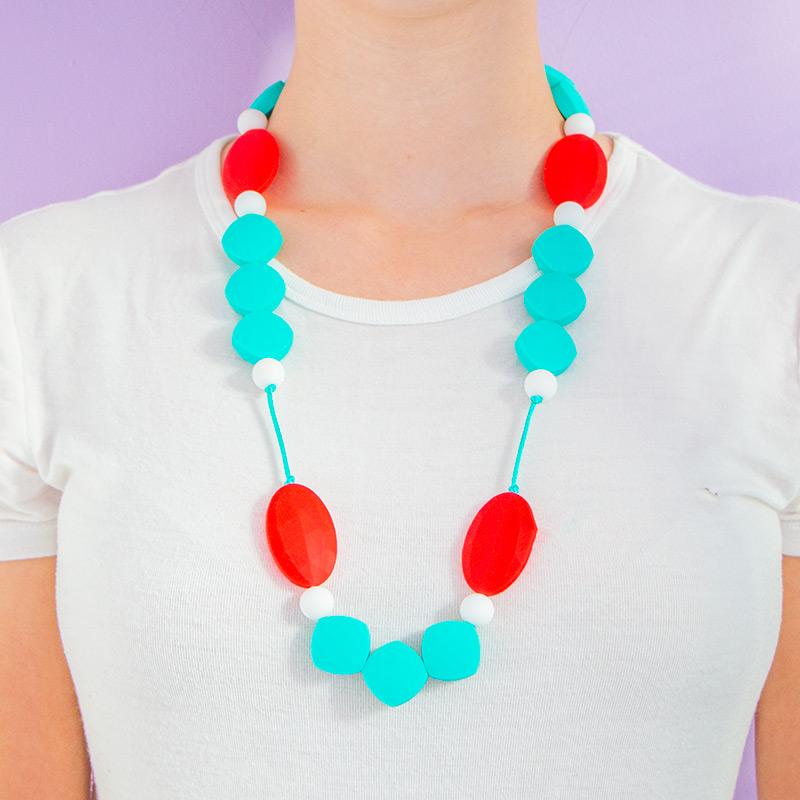 Teething Necklaces Honeymoon - Turquoise