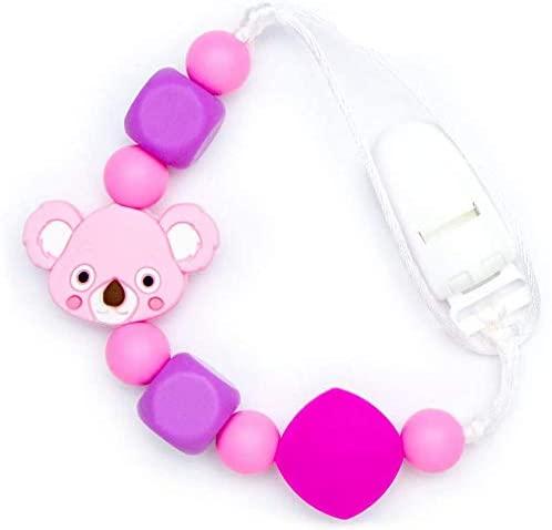Pacifier Clips Baby Koala - Pink