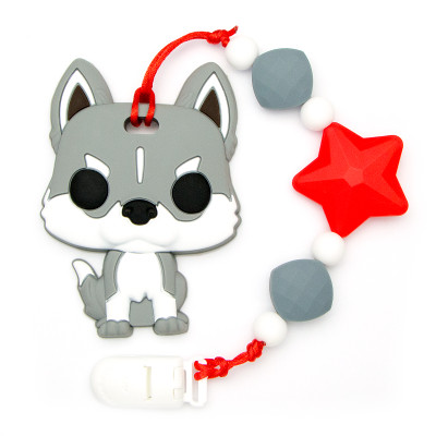 Teething Toys Dog - Red