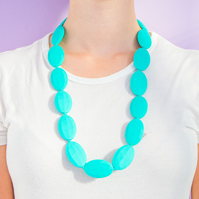 Teething Necklaces Spring - Turquoise