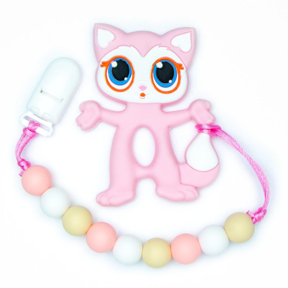 Teething Toys Cat - Pink