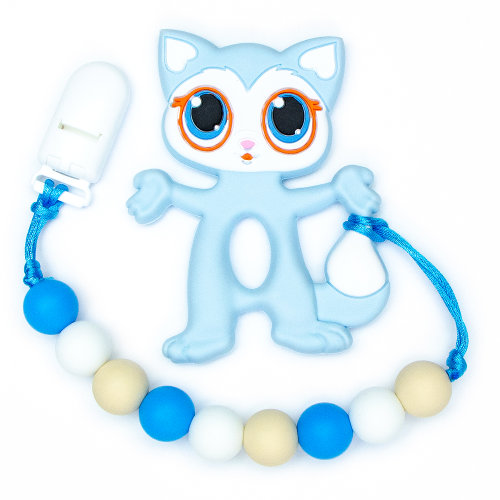 Teething Toys Cat - Blue
