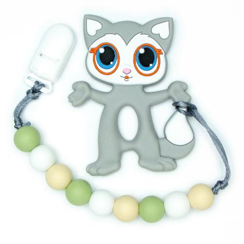 Teething Toys Cat - Grey