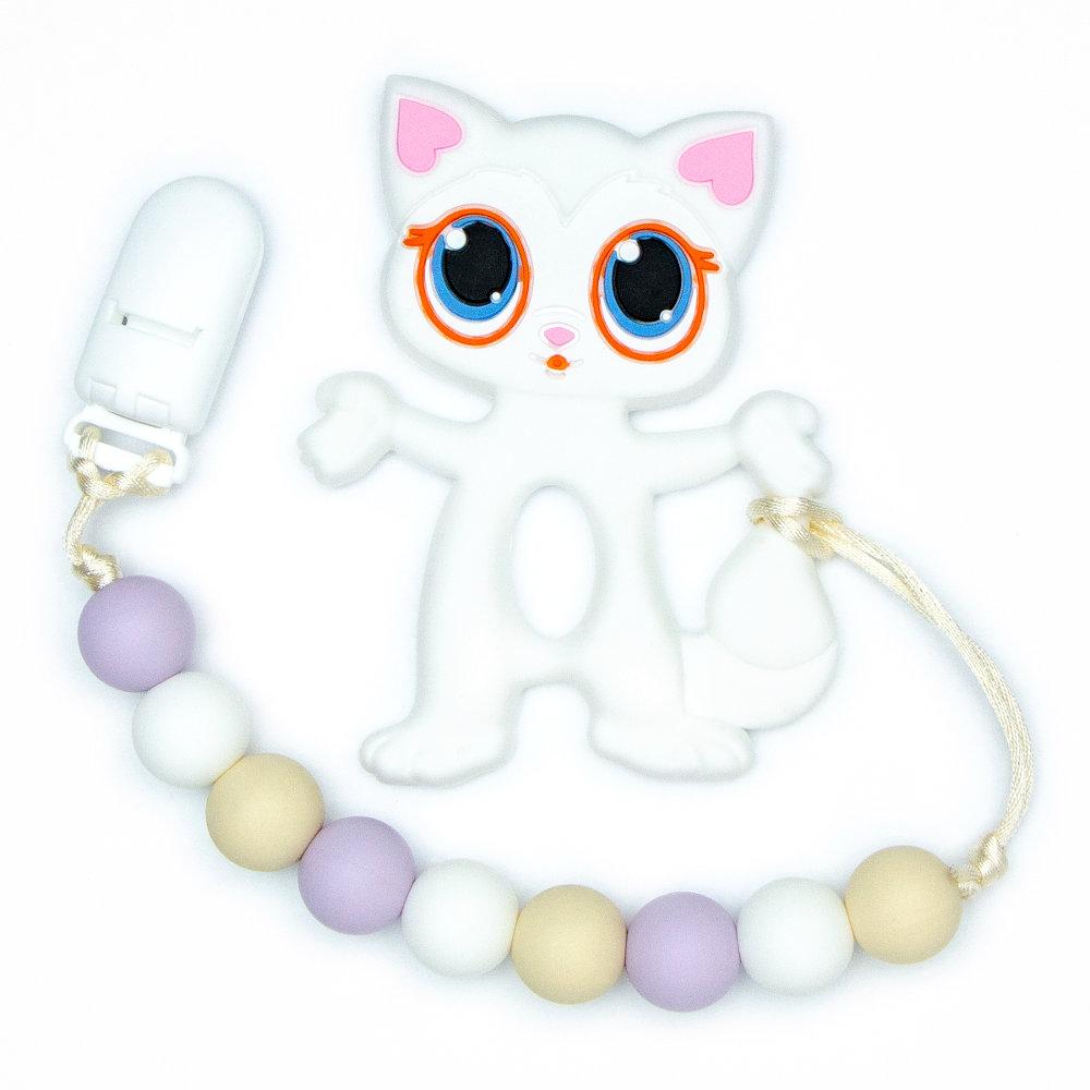 Teething Toys Cat - White