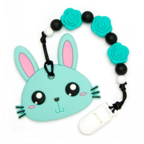 Teething Toys Rabbit - Turquoise
