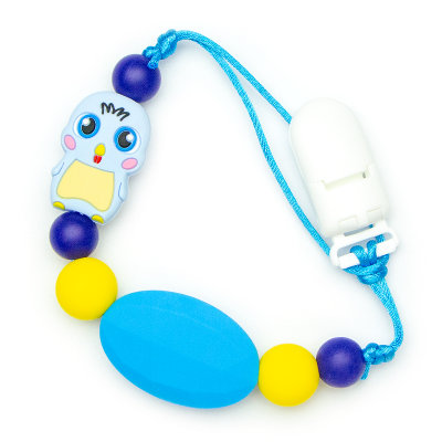 Pacifier Clips Chick - Blue