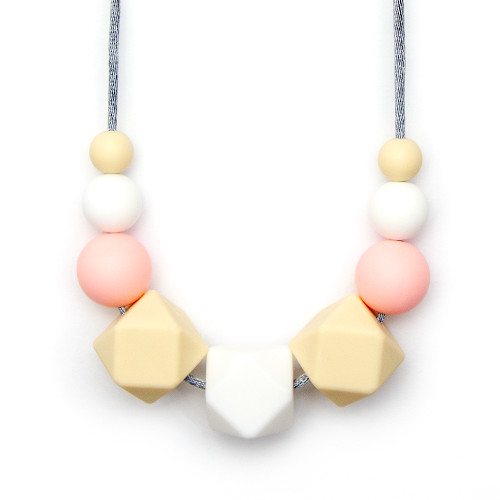 Teething Necklaces Geomax - Peach