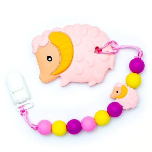 Teething Toys Ram - Pink