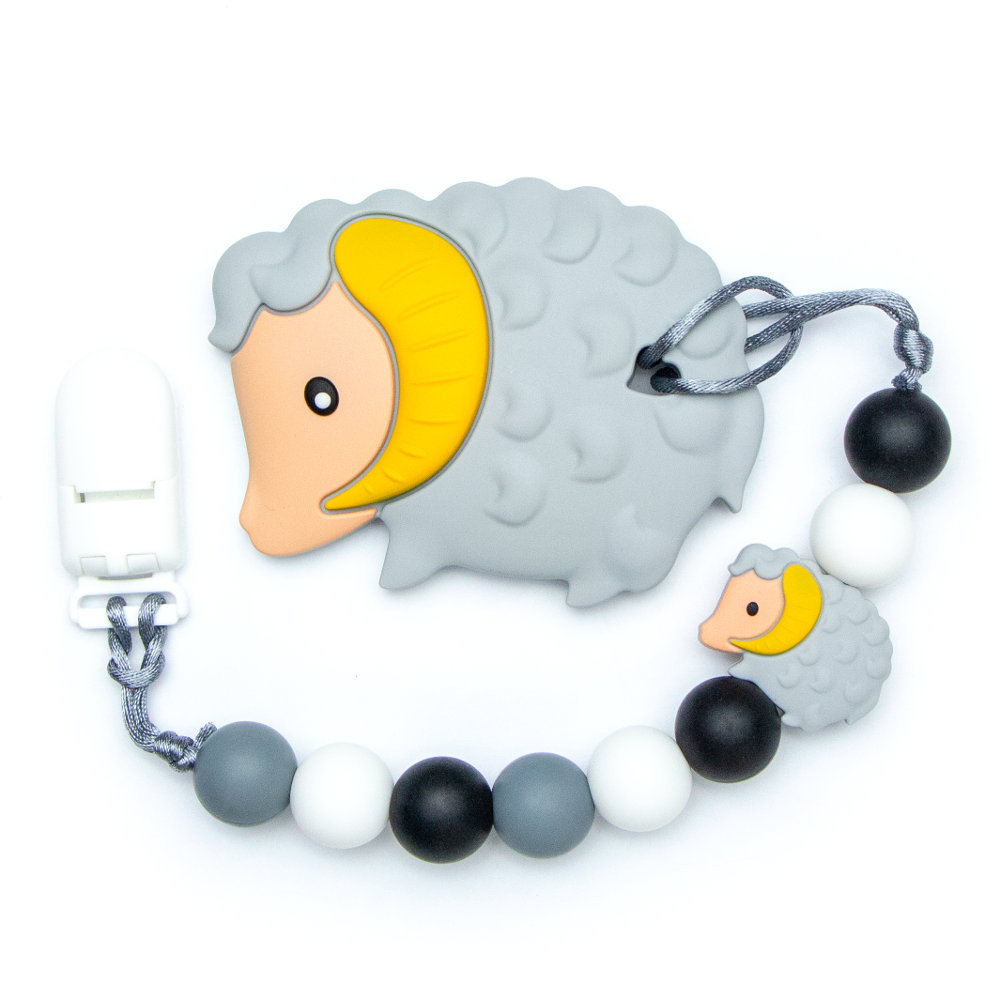 Teething Toys Ram - Grey