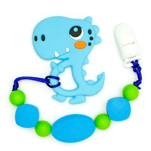 Teething Toys Dinosaur - Blue